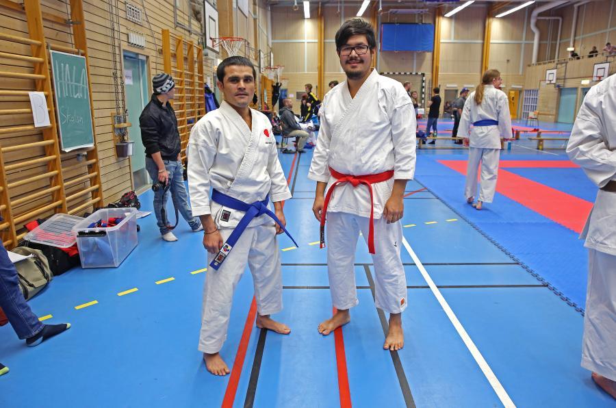 Klubbens två deltagare på DM:et, Zaman och Mohsen