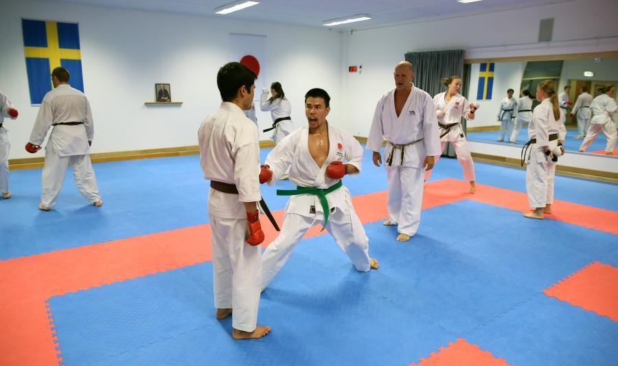 Zaman och Barat deltog i JKA:s öppna landslagsläger i kumite och kata i Skellefte 3-4 september.