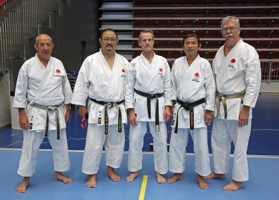 Zendokai Karate arrangerade helgen 17-18 september 2016 International Camp i Halmstad. På bilden syns Sylve med instruktörerna; f.v. Pacheco Sensei, Portugal, 7 dan, Shiina Sensei, Japan, 7 dan, Sylve, Kurasako Sensei, Japan, 8 dan, och Hedlund Sensei, Sverige, 7 dan.