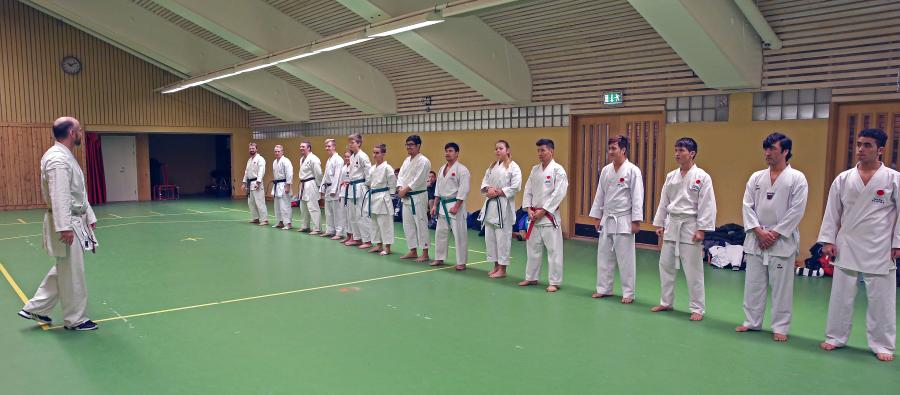 Åtta karatekas från åseleklubben deltog i träningen i Piteå 27/11.