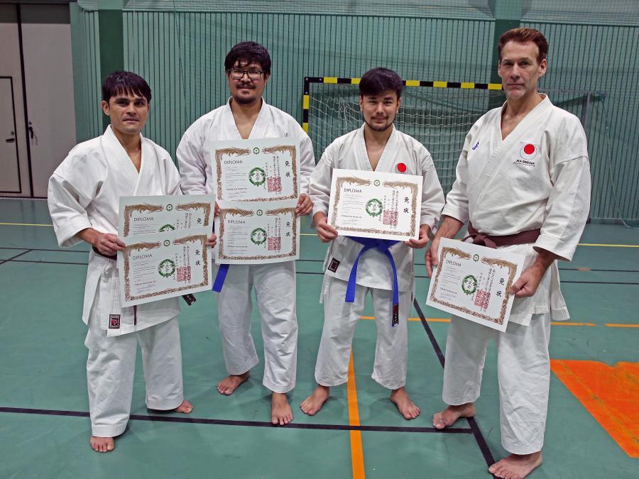 Lördag 4 november tränade klubbmedlemmar goshindo och kobudo med Johan Backteman. Efter träningen graderande några i klubben.