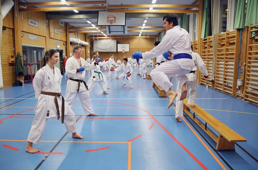 Lördag 19 januari var det kumite- och kataträning i Umeå, med Simon Adolfsson och Johan Backteman.