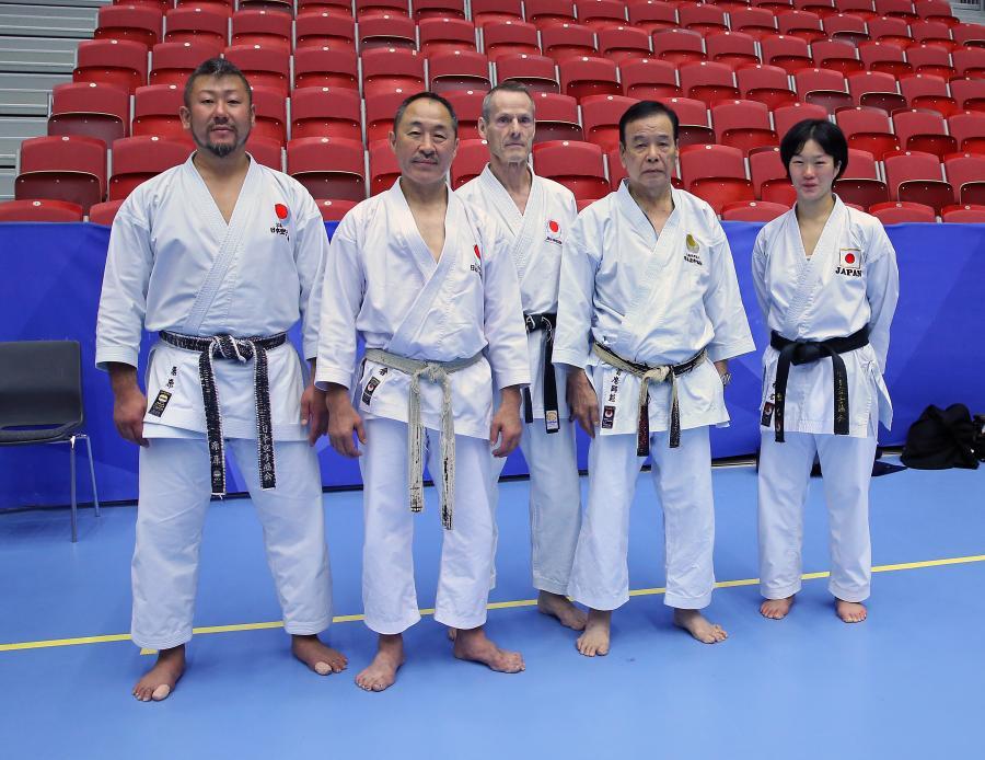 Helgen 7-8 september arrangerades fjärde upplagan av Zendokai Karate 2019 International Camp i Halmstad, med JKA:s chief instructor Ueki Masaaki, 10 dan. På bilden syns från vänster instruktörerna Kurihara Kazuaki, 5 dan, Ogura Yasunori, 8 dan, Sylve, Ueki Masaaki, och Shiina Mai, 4 dan.
